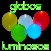 10 Globos Con Luz Led Cyalume Neon Fiesta Boda Antro Glow