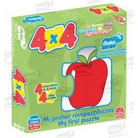 Frutas Rompecabezas 4x4 100% Madera 16 Piezas 2+ De Diako