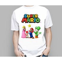Camiseta Nintendo Super Mario Luigi Peach Toad Browser Yoshi
