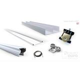 Kit Frente De Placard Corredizo X 3.00m Aluminio P/2 Puertas