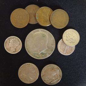 Colección Monedas De Estado Unidos- Dollar, Dime, Cents