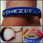 Para Mujer Hombres Pulseras Bandera De Venezuela Ajustables