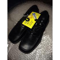 Zapato Escolar Primaria Secu Clasico Color Negro Cintas E4f