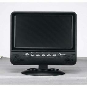 Monitor Tela Tv Lcd 7 Entr. E Saída A/v Usb Sd E Rádio Fm