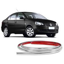 Friso Cromado Para Choque Volkswagen Polo 2007 A 2012 Mod U