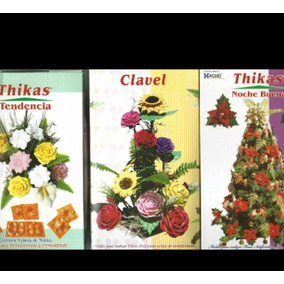 13 Pares De Moldes Para Flores Con Goma Eva Thickas