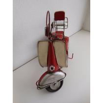 Réplica, Miniatura Moto Wespa Antiga Retrô