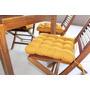 Jogo Acento P/ Cadeira 40cm X 40cm (kit C/6 Peças) Amarelo