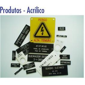 Plaquetas P/ Painéis Eletricos Acrilico 20mmx50mm