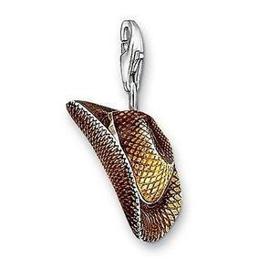 Dije Sombrero Vaquero-plata .925 -esmaltado-flete Gratis