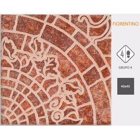 Ceramica 40x40 Fiorentino Tabaco Terracota De 1ª Cortines
