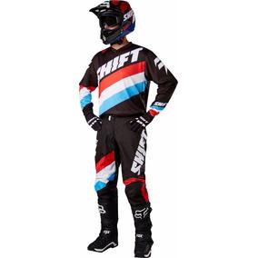Kit Shift Label Whit3 Jersey,pantalón Off Road Negro 34