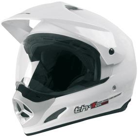 Capacete Cross C/viseira Top Helmet Th1 Branco 58 Protork
