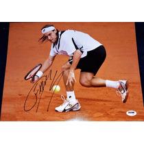 Fotografia Autografiada David Ferrer Tenis Roland Garros Atp