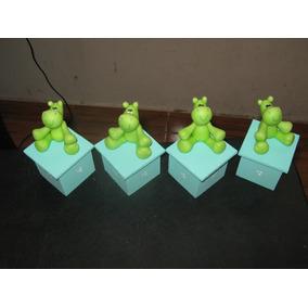 20 Souvenir-cajta Hipopotamos En Porcelana Frìa!!!