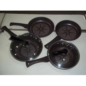Jogo De Panelas De Titanio Coocan(frigideiras E Caçarolas)