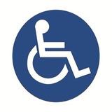 Cartel Adhesivos Auto Discapacitados 10x10 Cm Lavable