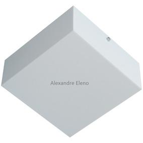 Arandela Plafon Sobrepor Acrílico 40x40 Leitoso