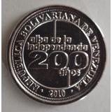 Moneda Venezuela 25 Céntimos 2010 Conmemorativa 200 Años Unc