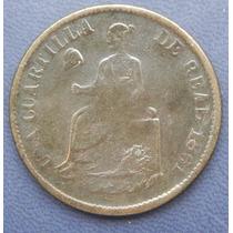 Moneda 1/4 De Real 1861 Sonora Cobre Excelente