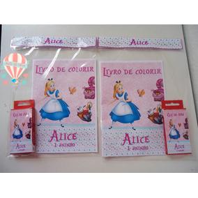 Kit Colorir Alice No País Das Maravilhas Branca De Neve Cind