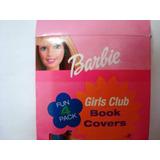2207 Barbie - Papel Para Encapar Livros, Importado, Com 4 Ti