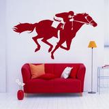 Adesivo F6 Decorativo Cavalo De Corrida 1,30m X 73cm