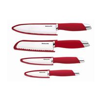 Conjunto De Facas Kitchenaid De Cerâmica Essenciais Red