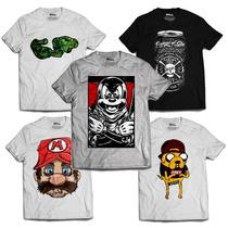 Kit 50 Camisetas Camisa Mickey Mario 4:20 Brooklyn 86 Swag
