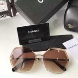 Óculos De Sol Chanel Signature 4220 Lente Degradê Duas Cores