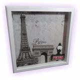 Quadro 3d Tema Paris França Arte Francesa 33x33 C/ Vidro