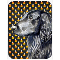 Coated Retriever Retrato Plana Halloween De Las Pastillas Ju