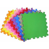 Kit 20 Tapetes Infantil Emborrachado 50x50 10mm Tatame Eva