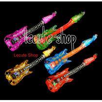 10 Guitarras Globos Luminosos Fiesta Eventos Led Inflables