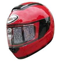 Casco Moto Suomy Booster Marca Italiana Color Rojo