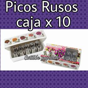 Picos Rusos X10 Parpen Repostería Tortas Pasteleria