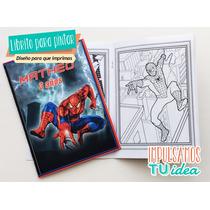 Spiderman Librito Pintar - Pintador Para Imprimir