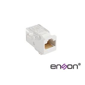 Enson Conector Jack Rj45 Para Cable Utp Cat5e Sin Pinzas