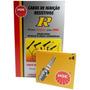 Kit Cabos + Velas Ngk Fiat Punto 1.8 8v Mpi Flex 2007/