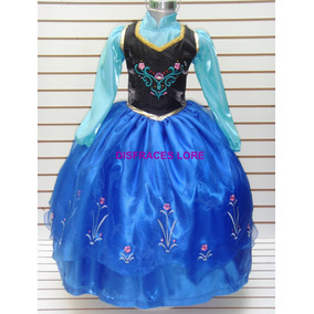 Disfraz Vestido Frozen Ana Elsa Princesa Anna De Lujo