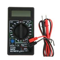 Multimetro Digital Lcd Con Puntas Y Cables Negro Nuevo