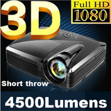 Latest! Alta 1080p Brilho Multimídia 3d Portátil 4500 Lum
