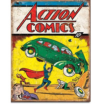 Poster Metalico Anuncio Lamina Action Comics No 1 Superman