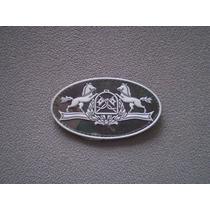 Distintivo Emborrachado Elipse Escola Equitação Do Exército