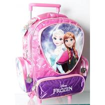 Mochila Con Carrito Frozen Jardin Originales !!!