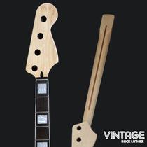 Braço De Baixo Jazz Bass Maple Rosewood Madre Pérola Skunk