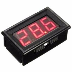 Voltímetro Digital Medidor Bateria Som Automotivo Vermelho