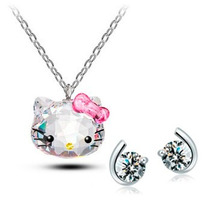 Regalo Dije Hello Kitty Swarovski Element Incluye Envio!!!