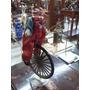 Payaso Antiguo En Marmolina Y Bicicleta Metalica Coleccion