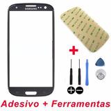 Tela Vidro Galaxy S3 I9300 Visor Display Adesivo+ferramentas